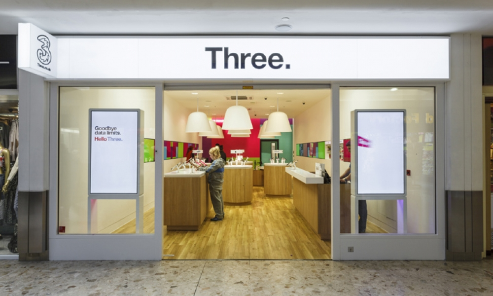 UK Three Mobile Stores Design Collection