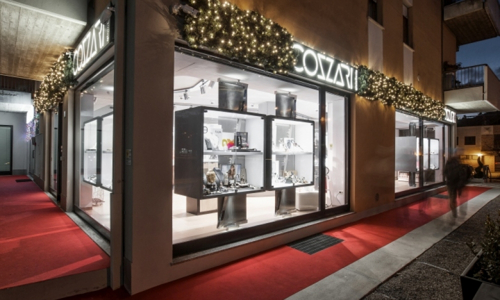 Cozzari jewelry retail shop interior design Italy