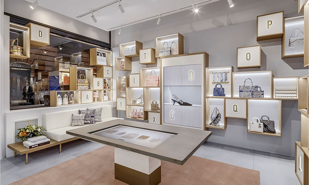 Dior pop-up store in Soho, New York