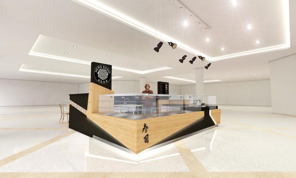 Hero Sushi Mall Kiosk Design