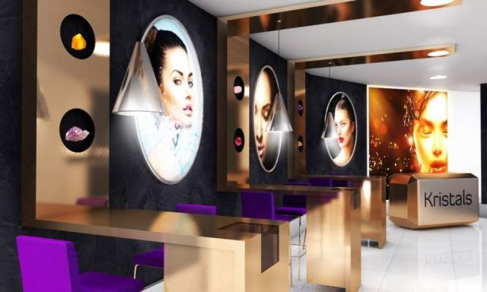 Kristals Cosmetics Retail Shop Design