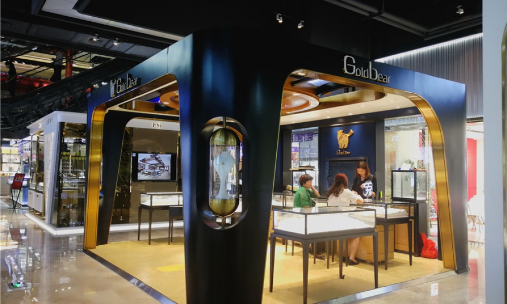 Shenzhen Shuibei Gold Jewelry Mall Kiosk Collection